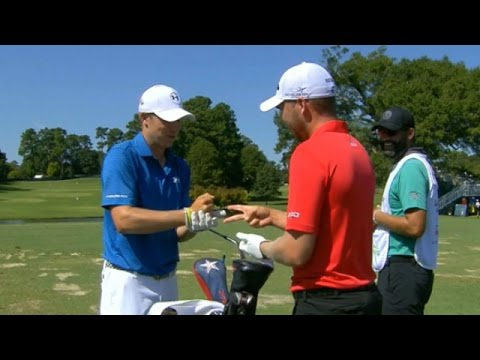 Jordan Spieth, Daniel Berger play Rock-Paper-Scissors - YouTube