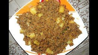 Aloo Keema l How To Make Hyderabadi Potato Mutton Minced l Norien