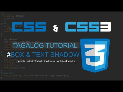 CSS & CSS3 Tagalog Tutorial -6. Box and Text Shadows (Website Design) thumbnail