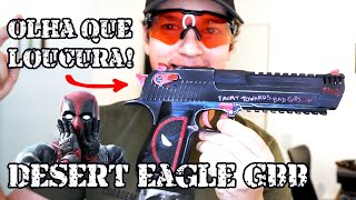 Fizeram a Desert Eagle do DeadPool - X man - Airsoft GBB