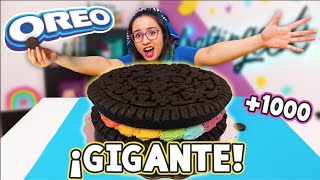 HICE una OREO GIGANTE de ARCOIRIS con 1000 galletas 🌈😍  Craftingeek ✄ Craftingeek