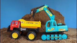 Airplane crashed | Construction Vehicles Working On Site | Excavator , Truck