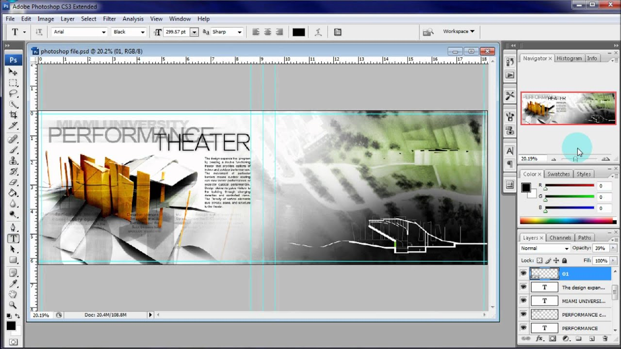 abbastanza ARCHITECTURE PORTFOLIO TUTORIAL: ADDING TEXT - YouTube ME04