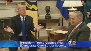 Trump, Pelosi, Schumer Spar Over Gov't Shutdown In Tense Oval Office Meeting