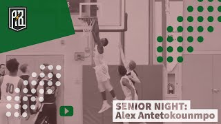 Kostas, Giannis & Thanasis watch Alex play on senior night | Alex Antetokounmpo highlights - WOW