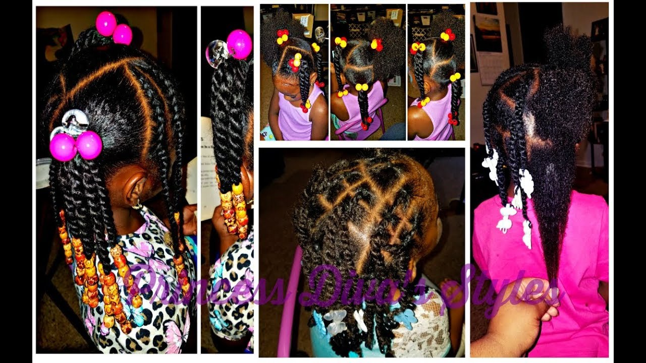 Little Girls Easy Go To Hairstyles 4a 3c 4c Natural Kids