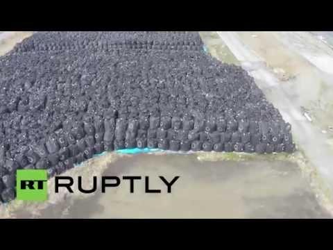 Nuclear Waste: Drone buzzes Fukushima temporary storage facility
