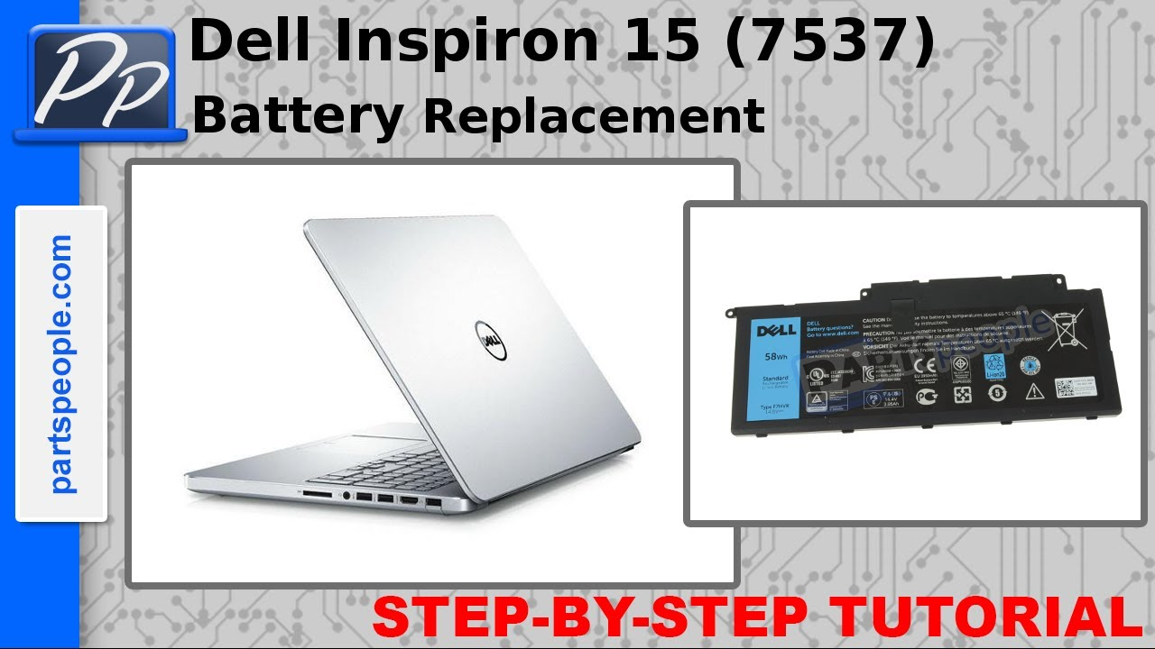 Dell Inspiron 15 (7537) 7000 Series – Battery Removal and Installation