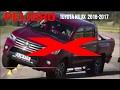 La Toyota Hilux  2016-2017 (test)  no pudo superar la