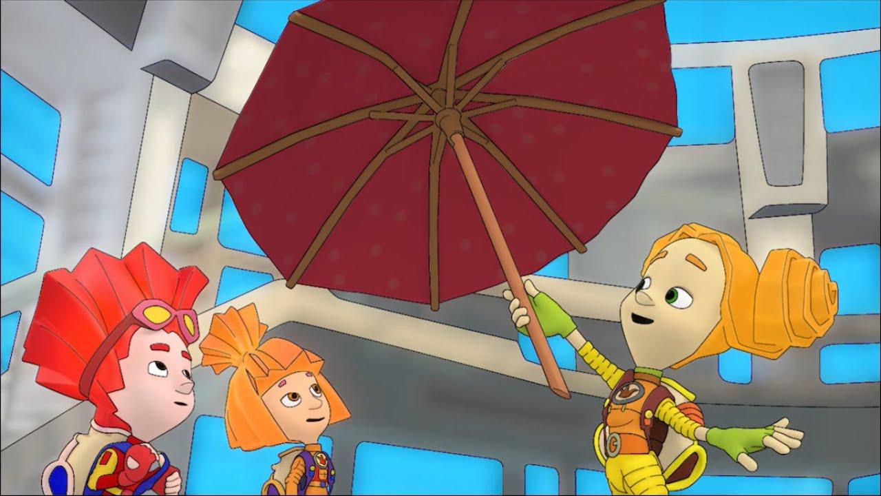 ✌️ Фиксики ☂️ - Раскраска 🎨  - Зонтик 🛠 Учим цвета с мультгероями - Для малышей
