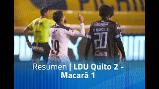 Resumen: LDU Quito 2 - Macará 1