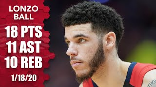 Lonzo Ball notches his third triple-double of the season vs. the Clippers | 2019-20 NBA Highlights