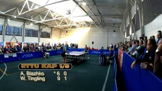 Anna Blazhko - Wang Tingting ETTU CUP Настольный теннис Евро Кубок