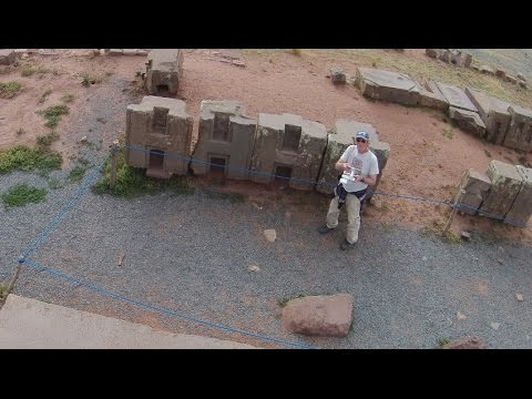 Quadcopter View Of Tiwanaku And Puma Punku In Bolivia
