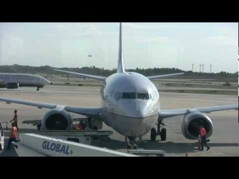 Continental Airlines Boeing 737-500 Flight from Charlotte to Newark (HD)