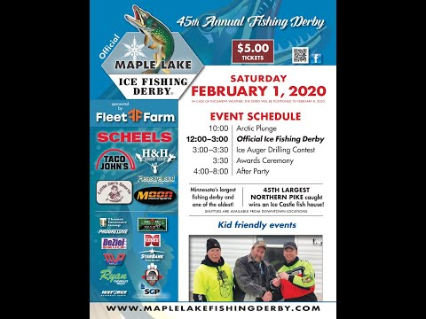 2020 45th Maple Lake Ice Fishing Derby Promo