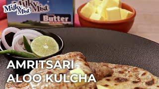 Crispy Amritsari Aloo Kulcha | Best Stuffed Kulcha Recipe| English Recipe| MilkyMist