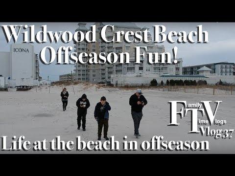 Wildwood Crest offseason weekend getaway prez day FTV vlog 37