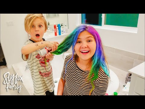 BROTHER DOES SISTERS HAIR!! Best Hairstyle Of 2017  Slyfox Family