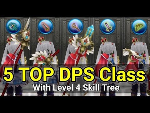Toram Online|5 TOP DPS Class ! With Level 4 Skill Tree