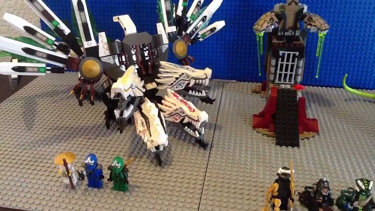 Lego ninjago epic dragon battle set 9450 youtube - Lego ninjago dragon a 4 tetes ...