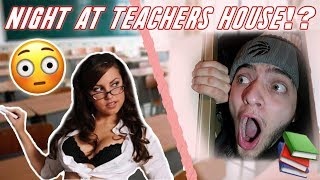 I SPENT THE NIGHT IN MY HIGH SCHOOL TEACHERS HOUSE & SHE HAD NO IDEA...*YOU WONT BELIEVE WHAT I SAW*