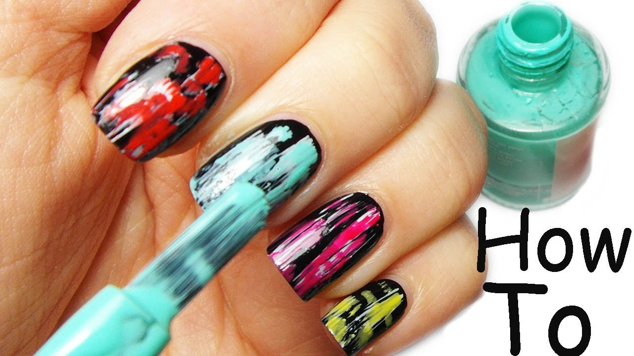 Nail Art Tutorial FACILE, VELOCE, COLORATISSIMA! - YouTube