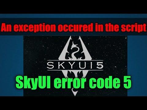 Как исправить ошибку на новом NMM An Exception Occured In The Script / SkyUI Error Code 5