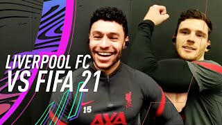 Alex Oxlade-Chamberlain is FUMING with his FIFA stats! | Liverpool FC vs FIFA 21