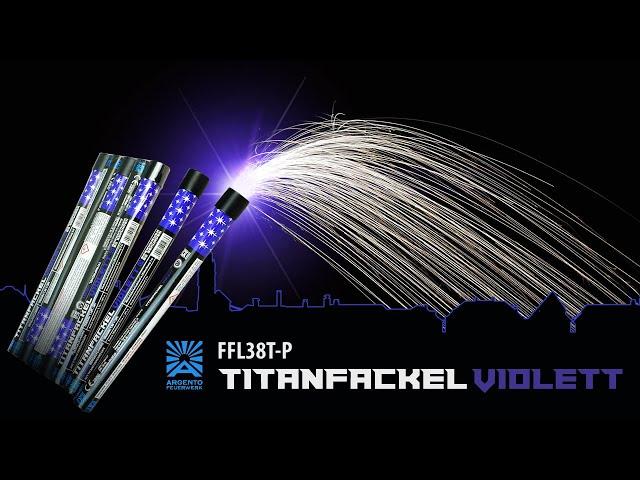 Titanfackel Violett - Bengalfeuer mit Titanfunken-Regen [Batch 2020]
