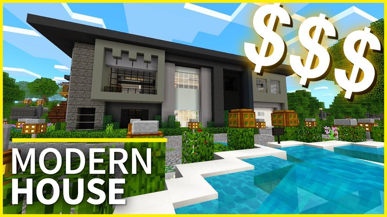 Minecraft PE Maps - MILLIONAIRE\'S HOUSE! - Amazing House Design for ...