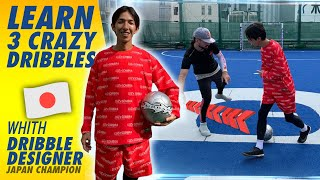 LEARN 3 FOOTBALL DRIBBLING SKILLS FROM DRIBBLE DESIGNER 🇯🇵// SEAN GARNIER FRIDAY TUTORIAL
