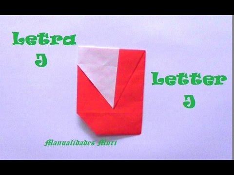 letra j origami