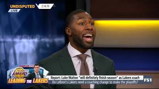 Parker and Broussard react to Luke  will definitely finish season  as Lakers coach