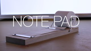 ⇒ DIY Wood and Aluminum Note Pad