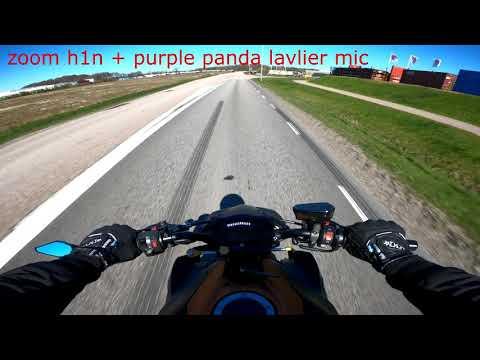 gopro audio vs zoom h1n + purple panda lavlier