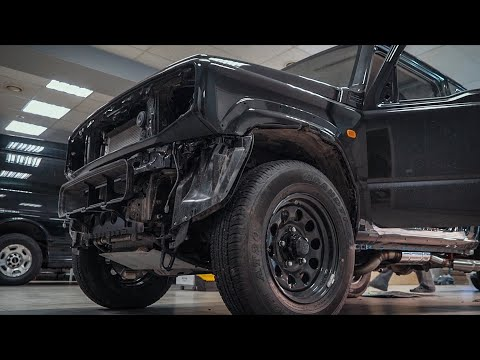 Customizing the off-road city vehicle. New Suzuki Jimny