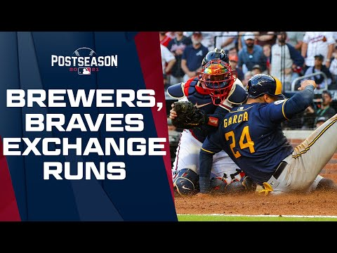 Battle in Atlanta! Brewers, Braves exchange runs in WILD 4th inning!