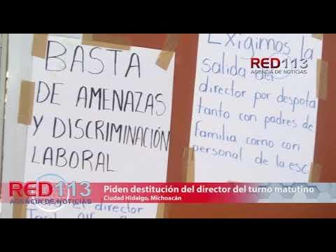 VIDEO Docentes exigen la destitución del director del turno matutino de la Escuela Primaria Urbana Federal 20 de Noviembre