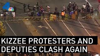 LA Sheriff's Deputies and Dijon Kizzee Protesters Clash Again   NBCLA