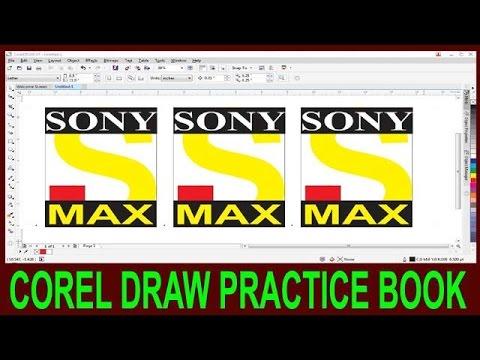 How To Make Logo In Corel Draw || Corel Draw Sony Max Logo Degine In Hindi ||