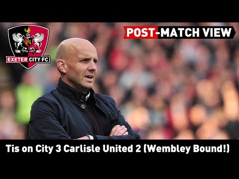 POST-MATCH VIEW: Tis on City's 3-2 win over Carlisle United