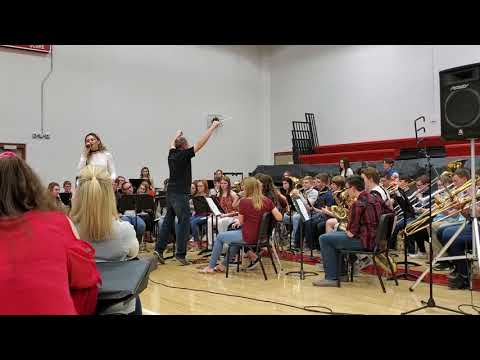 "Adrienne Sings ""Shallow"" with Treynor High School Band"