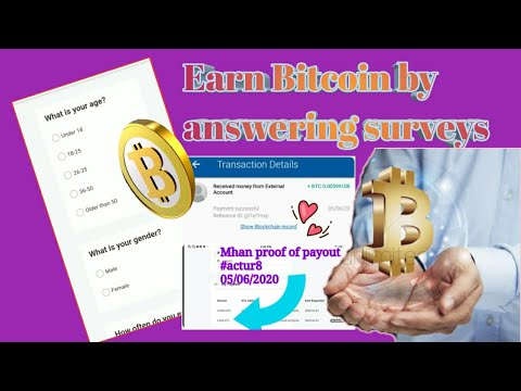 Earn BTC by answering Basic Surveys|ACTUR8