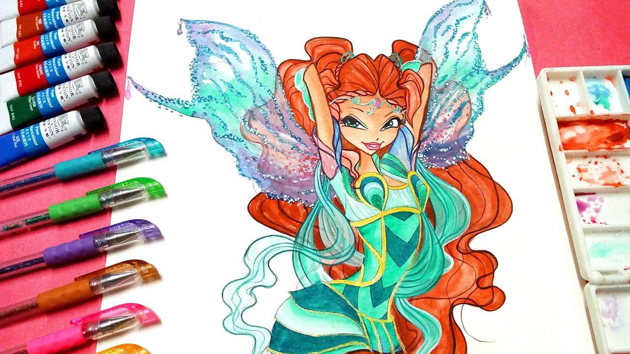 Drawing Tutorial How To Draw Winx Club Aisha Bloomix