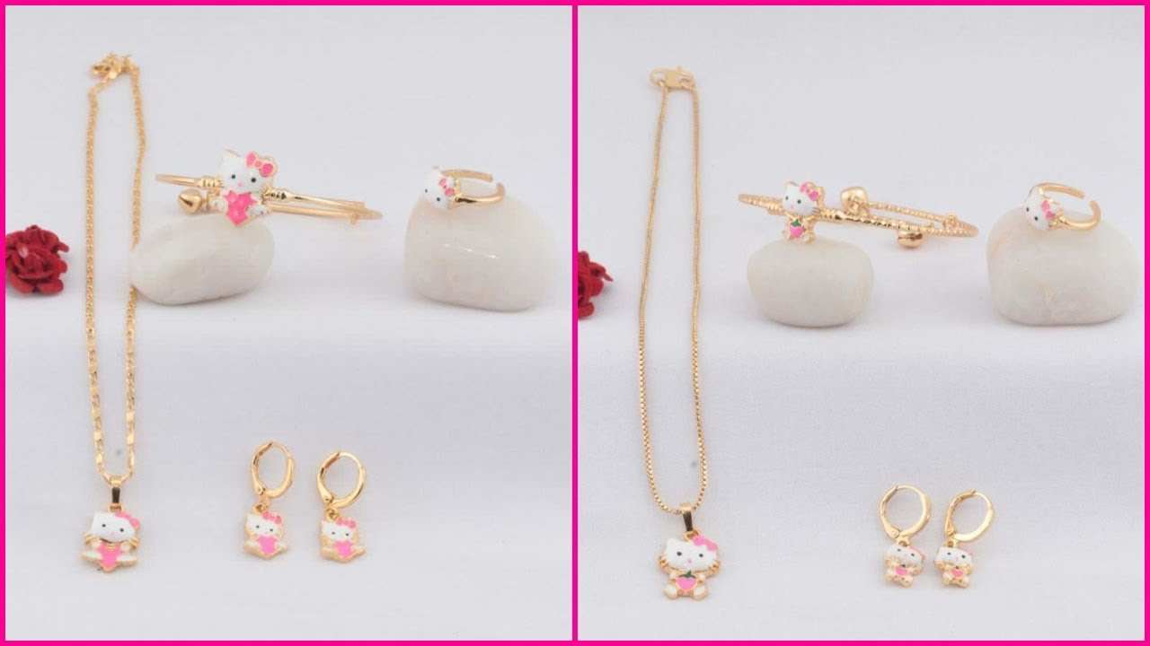 Rose Gold Kids Combo Sets With Price Buy Online Rose Gold Jewellery Whatsapp 9502099458 Youtube
