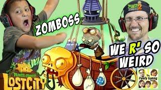 Mike & Dad Get Weird! PVZ 2 Lost City Zomboss w/ Hyper Timelapse #IndianaBones #fails