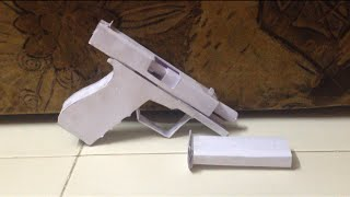 How to make a paper glock that shoots. (Tutorial)