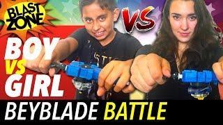 Beyblade Battle Boy Vs Girl !  Funny Beyblade Burst Tournament & Unboxing!