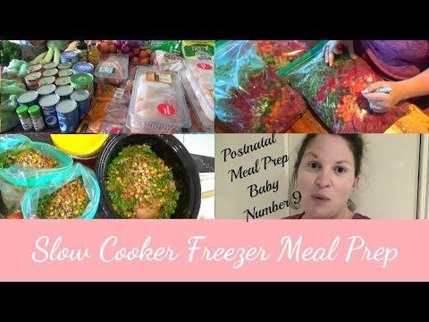 Slow Cooker Freezer Meal Prep | Postnatal Meal Prep | 2 days, 30 Meals